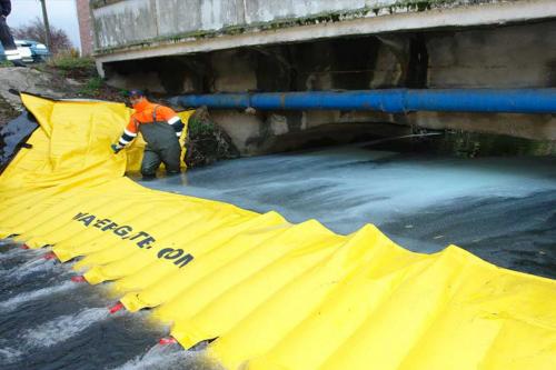 Čiščenje onesnaženja vod s pomočjo pregrad Watergate