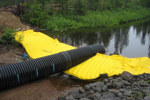 Protipoplavne zaščite Vistler Preusmeritev vode med delom v vodi
